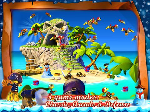 Free Crazy Chicken: Pirates - Christmas Edition download for iPhone, iPad and iPod.