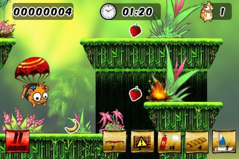 Capturas de pantalla del juego Crazy hamster para iPhone, iPad o iPod.