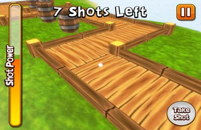 Screenshots of the Crazy Island Golf! game for iPhone, iPad or iPod.
