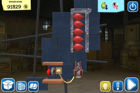 Descarga gratuita de Crazy machines: Golden gears para iPhone, iPad y iPod.