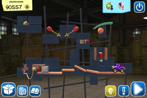 Screenshots of the Crazy machines: Golden gears game for iPhone, iPad or iPod.