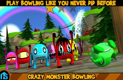 Screenshots of the Crazy Monster Bowling game for iPhone, iPad or iPod.