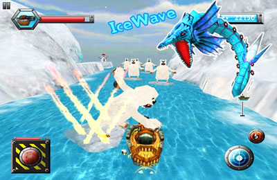 Screenshots vom Spiel Crazy Monster Wave für iPhone, iPad oder iPod.