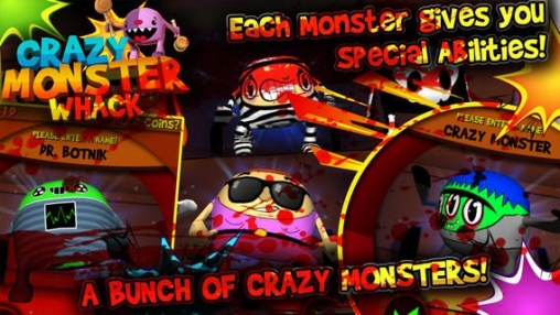 Скриншот игры Crazy monster whack: Blood edition на Айфон.