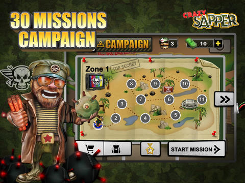 Download Crazy Sapper iPhone free game.