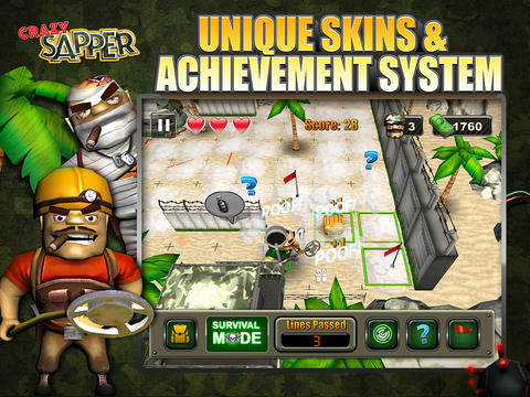 Free Crazy Sapper download for iPhone, iPad and iPod.