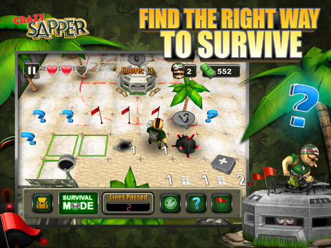 Screenshots of the Crazy Sapper game for iPhone, iPad or iPod.