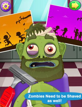 Capturas de pantalla del juego Crazy Shave para iPhone, iPad o iPod.