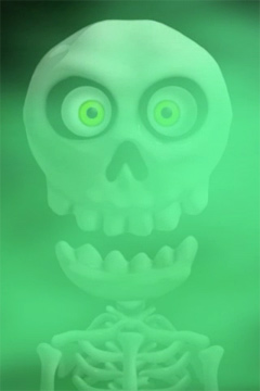 Screenshots of the Crazy Skeleton game for iPhone, iPad or iPod.