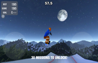 Capturas de pantalla del juego Crazy Snowboard para iPhone, iPad o iPod.