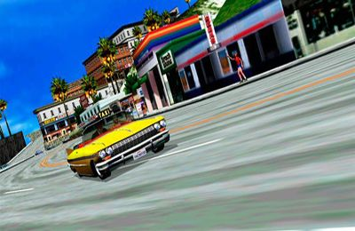 Capturas de pantalla del juego Crazy Taxi para iPhone, iPad o iPod.