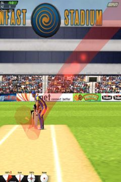 Écrans du jeu Cricket Game pour iPhone, iPad ou iPod.