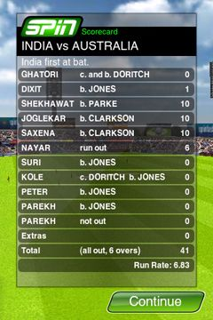 Capturas de pantalla del juego Cricket Game para iPhone, iPad o iPod.