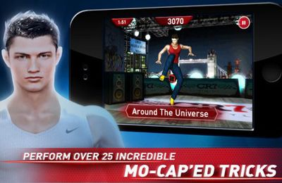 Capturas de pantalla del juego Cristiano Ronaldo Freestyle Soccer para iPhone, iPad o iPod.