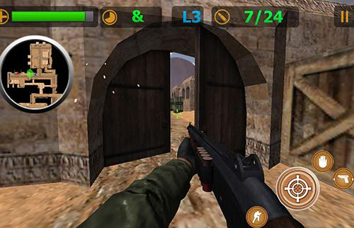 Capturas de pantalla del juego Critical strike: Sniper para iPhone, iPad o iPod.