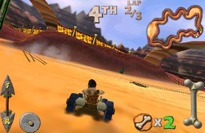 Screenshots of the Cro-Mag Rally game for iPhone, iPad or iPod.
