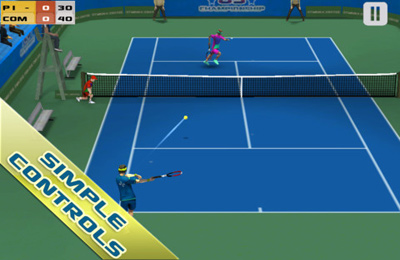 Screenshots vom Spiel Cross Court Tennis für iPhone, iPad oder iPod.