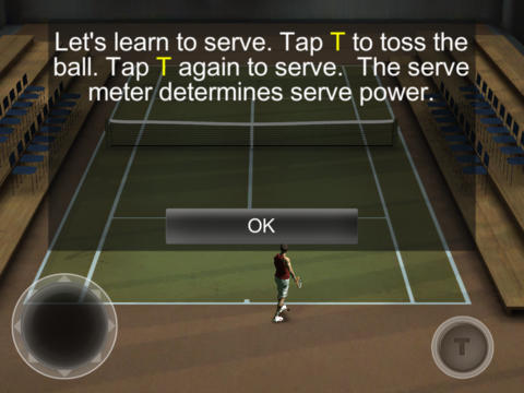 Screenshots vom Spiel Cross Court Tennis 2 für iPhone, iPad oder iPod.