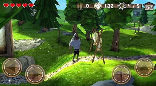 Геймплей Crossbow warrior: The legend of William Tell для Айпад.