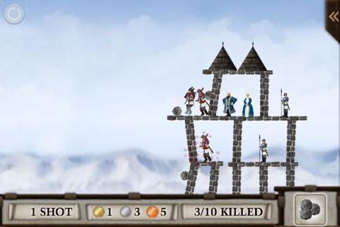 Écrans du jeu Crush the castle pour iPhone, iPad ou iPod.