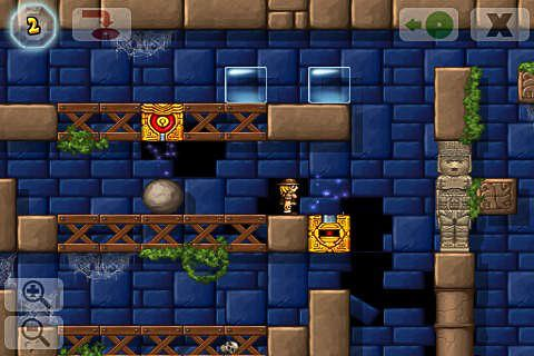 Capturas de pantalla del juego Crystal cave: Classic para iPhone, iPad o iPod.