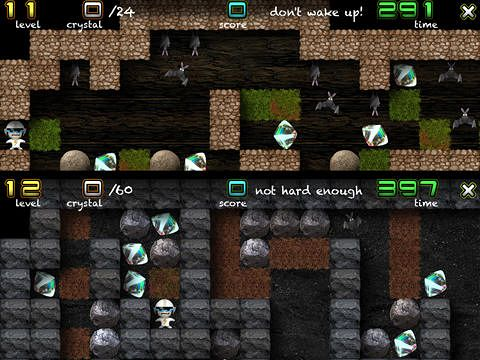Screenshots of the Crystal mine: Jones in action game for iPhone, iPad or iPod.