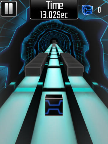 Screenshots of the Cube Runner 3D Pro game for iPhone, iPad or iPod.