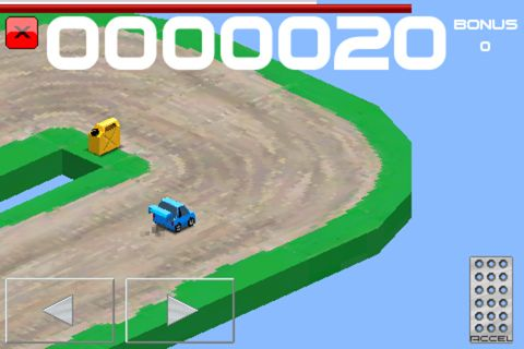 Screenshots of the Cubed rally racer game for iPhone, iPad or iPod.