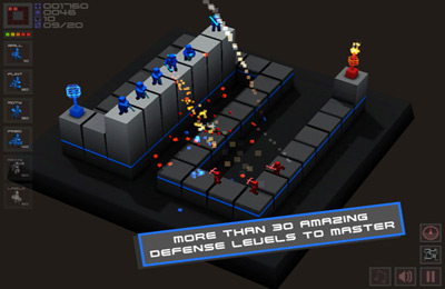 Screenshots of the Cubemen game for iPhone, iPad or iPod.