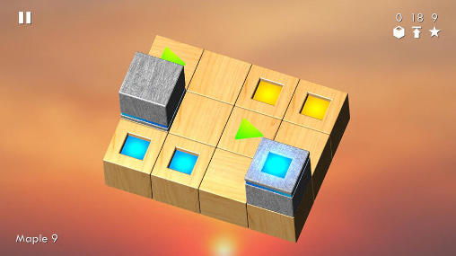 Screenshots of the Cubix challenge game for iPhone, iPad or iPod.
