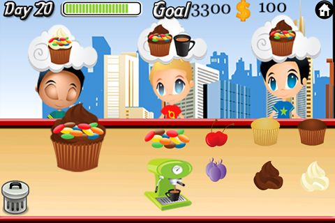 Free Cupcake cafe! download for iPhone, iPad and iPod.