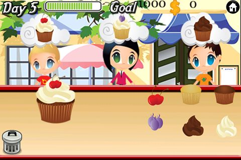 Screenshots of the Cupcake cafe! game for iPhone, iPad or iPod.