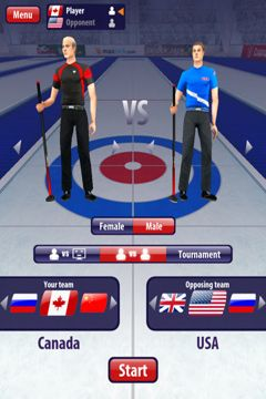 Download Curling 3D iPhone free game.