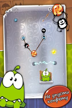 Screenshots do jogo Cut the Rope para iPhone, iPad ou iPod.
