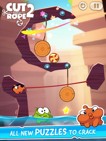 Screenshots vom Spiel Cut the Rope 2 für iPhone, iPad oder iPod.
