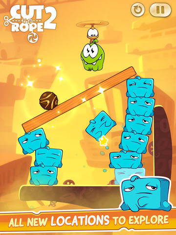 Screenshots do jogo Cut the Rope 2 para iPhone, iPad ou iPod.