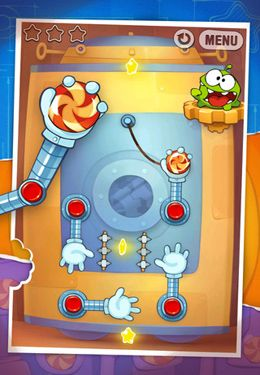 Screenshots do jogo Cut the Rope: Experiments para iPhone, iPad ou iPod.