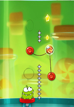 Геймплей Cut the Rope: Experiments для Айпад.