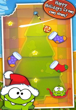 Скачать игру Cut the Rope Holiday Gift для iPad.