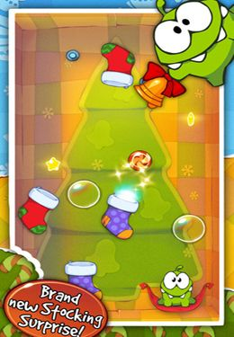Screenshots do jogo Cut the Rope Holiday Gift para iPhone, iPad ou iPod.