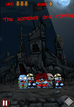 Screenshots vom Spiel Cut the Zombies!!! für iPhone, iPad oder iPod.