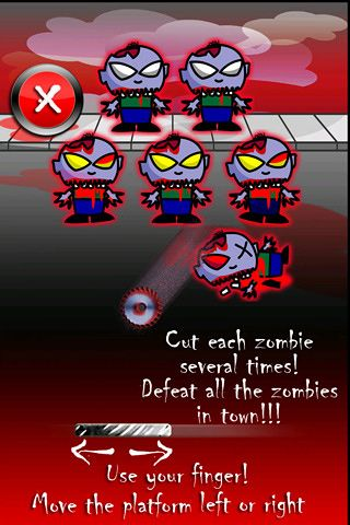 Free Cut the zombies download for iPhone, iPad and iPod.