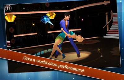 iPhone、iPad または iPod 用Dancing with the Stars On the Moveゲームのスクリーンショット。