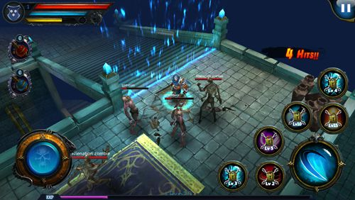 Screenshots vom Spiel Dark descent: Sentinel legend für iPhone, iPad oder iPod.
