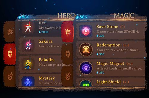 Écrans du jeu Dark slash: Hero pour iPhone, iPad ou iPod.