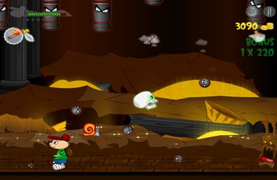 Screenshots of the Dave vs. Cave game for iPhone, iPad or iPod.