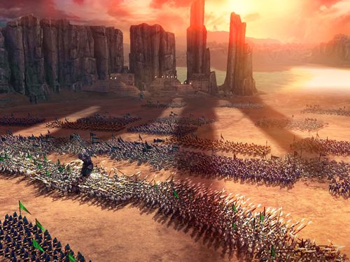 Screenshots of the Dawn of titans game for iPhone, iPad or iPod.