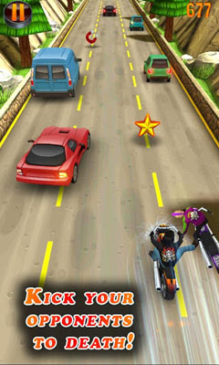 Capturas de pantalla del juego Deadly Moto Racing para iPhone, iPad o iPod.