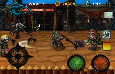 Écrans du jeu Death Knight pour iPhone, iPad ou iPod.
