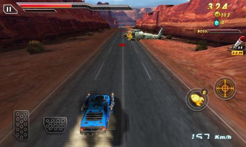 Screenshots of the Death race: Crash burn game for iPhone, iPad or iPod.